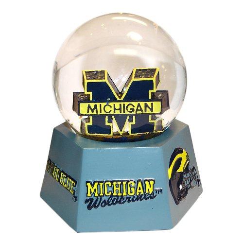 NCAA Michigan Wolverines Logo Musical Snow Globe