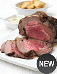 Large Boneless Rolled Rib of Aberdeen Angus Beef (Serves 10)