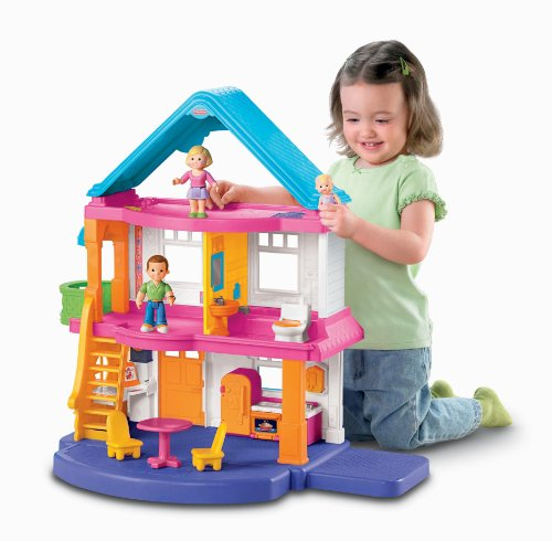 New Fisher Price First Dollhouse Caucasian Family