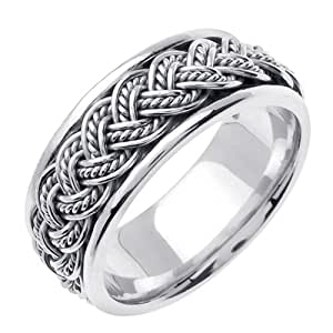 Amazon.com: Titanium & Sterling Silver Hand Braided