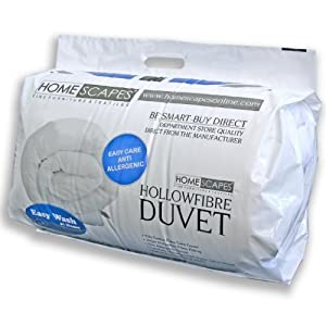 Homescapes Couette Synthétique QUALITE supérieure (550gm²) - Blanc 200 x 200 - 2 personnes - Confort et Bien-être