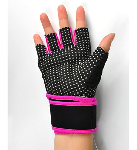 Women S Fitness Gloves With Wrist Support: 2-Fitness Womens Mens Fitness Weight Lifting Glove With
