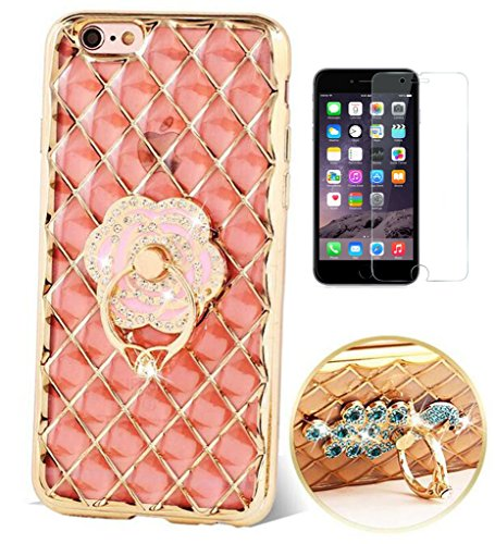 ISENPENK-Apple-iphone-6-plus6s-plus-HlleUltra-Slim-3D-Bling-GlitzerSilikon-Transparent-Soft-TPU-Silicone-CaseDiamantgitter-Krystall-Clear-Wasserdicht-Shockproof-Protection-Durchsichtig-Weichem-Schutzh