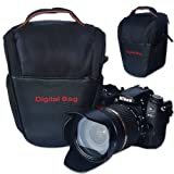 First2savvv Black Digital SLR Camera Bag Holster Case for FUJIFILM FinePix HS20EXR