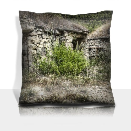 Stone Cellar Metal Bars Scenery 100% Polyester Filled Comfort Square Pillows Customized Made To Order Support Ready Premium Deluxe 17 1/2 Inch X 17 1/2 Inch Graphic Background Covers Designed Color Definition Quality Simplex Knit Fabric Soft Wrinkle Free front-585798