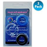 #1 Silicone Cocrings by MaxxFantasy for Stronger & Harder Erection!! Extra Stimulation Penis enlarger - Bigger Penis - Harder Erections -Works with Leather Thong and Butt Plug - Better Than Penis Enhancement Pills (pack of 2)