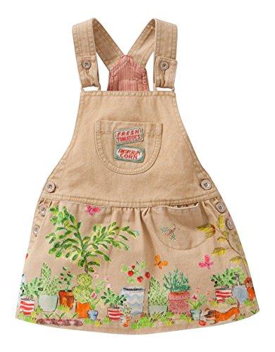 Oilily Dix dress-Vestito Bambine e ragazze,    Beige (Brown 82) 2 anni (92 cm)