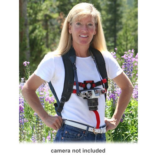 Keyhole Hands-Free Camera Strap Harness (Red)