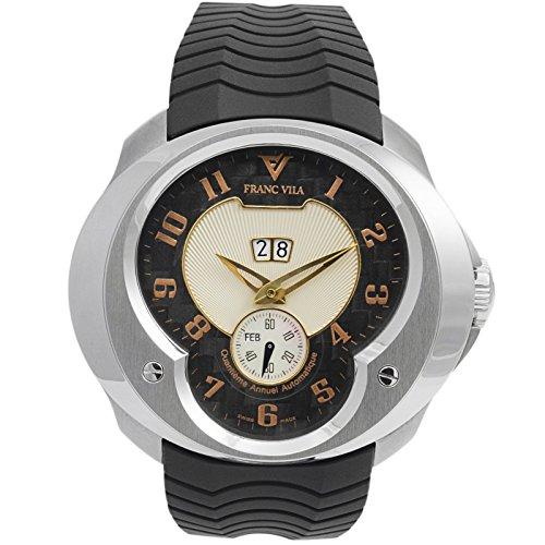 Franc Vila Esprit único Anual Calendario Oro Rosa Índice Automático Reloj para hombre fva8qa