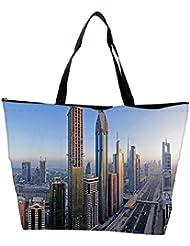 Snoogg Amazing Building In Dubai Designer Waterproof Bag Made Of High Strength Nylon