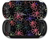 Sony PS Vita Skin Kearas Flowers on Black by WraptorSkinz