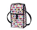 PackIt Freezable Wine Cooler Bag with Zip Closure, Double Bottle, Ziggy
