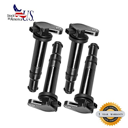VioGi Fit: New Ignition Coil set of 4 For 06-11 Hyundai Accent Kia Rio/Rio5 1.6L L4 (2011 Hyundai Accent Ignition Coil compare prices)
