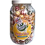 Lollies Assorted Fruity Ball Lollipops - Kingsway No Added Sugar Free Sweets & Candy - Wholesale Tub of 170