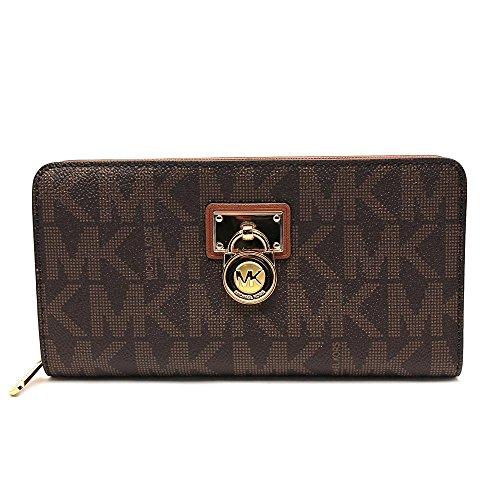 michael-kors-hamilton-signature-continental-brown-wallet-brown