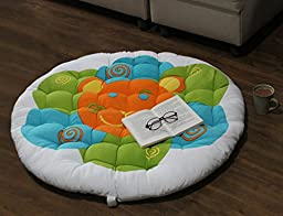 Christmas Thanksgiving Gifts Papasan Round Lounge Chair Seat Cushion Pillow for Maximum Comfort 38 Inches