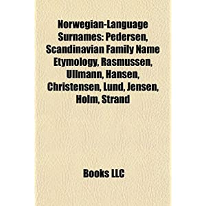 Norwegian-Language Surnames: Pedersen, Scandinavian Family Name ...
