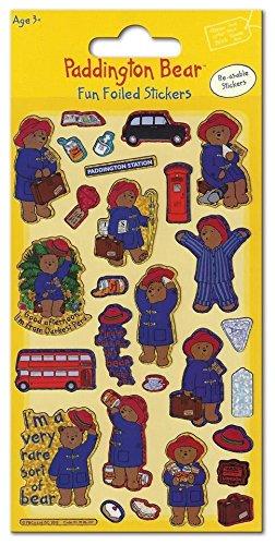 Paddington Bear Fun Foiled Sticker Sheet - Party Loot Bag Filler