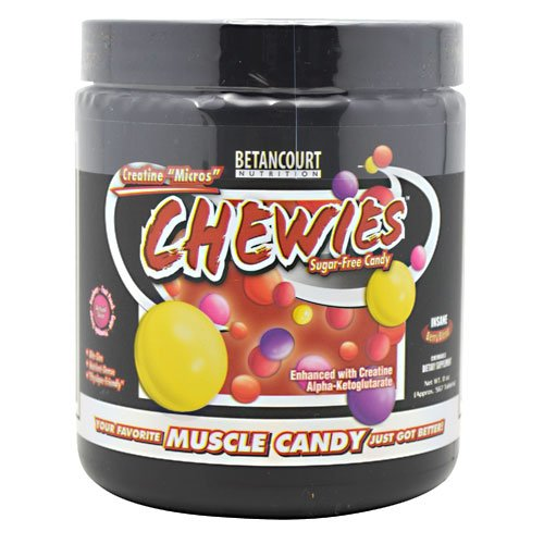 "Betancourt, Creatine ""Micros"" Chewies, Sugar-Free Candy, Insane Berry Blend, 8 Oz (Approx. 567 Tablets)"