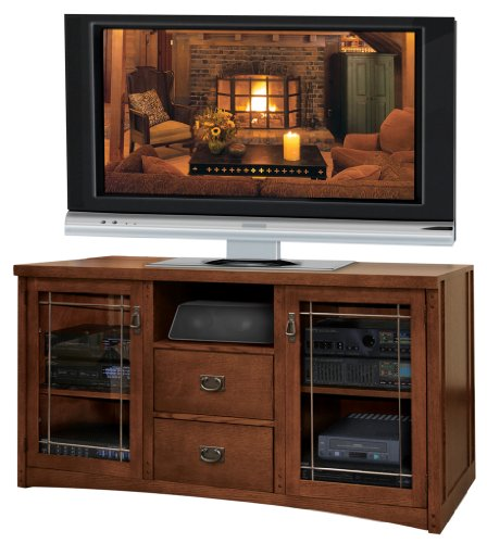 Kathy Ireland Home By Martin Mission Pasadena 61-Inch Full-Sized Tall Entertainment Tv Console With Ewas; 31-Inch Height