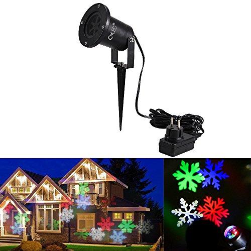 CroLED-Wasserdicht-LED-Gartenleuchte-Schneeflocke-Projektor-Outdoor-Gartenstrahler-Weihnachtsbeleuchtung-Landschaftslampe-Spotlicht-Dekoration-fr-Weihnachten-Party-Garten