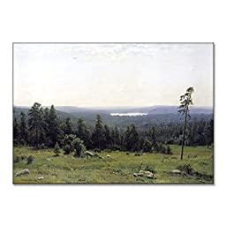 Ivan Shishkin Forest Distance 1884 Original Landscapes Oil Painting Reproduction on Gallery Wrapped Canvas 30X21 inch