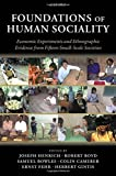 Foundations of Human Sociality: Economic...