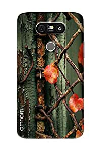 Omnam Steel Wire Pattern With Flowers Cage Printed Designer Back Cover Case For LG G5