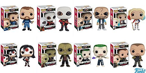 POP Movies: Suicide Squad - Joker Shirtless,Rick Flagg, Killer Croc, Katana, Deadshot (Masked), El Diablo, Harley Quinn, Boomerang! Vinyl Figures Set of 8