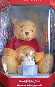 Winnie the Pooh Special Edition Holiday Pooh w Bonus Snow Globe (2002 Disney Store Exclusive) from Disney Store Inc
