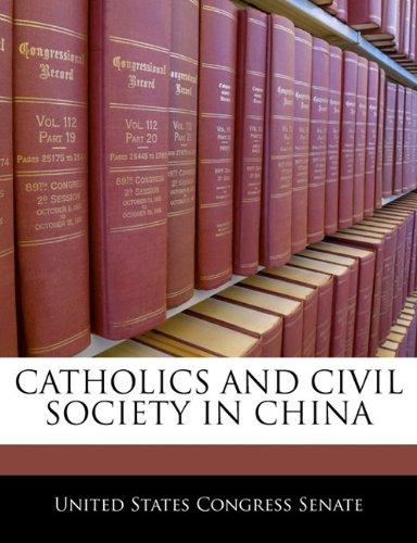 Catholics And Civil Society In China