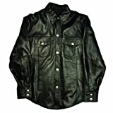 Mossi Black XX-Large Men's Leather Shirt