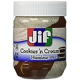 Jif Hazelnut Spread, Cookies and Cream, 13 Ounce