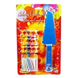 The Candle Shop Multicolor 24 Birthday Candles With Cake Server - B011FG5EF8