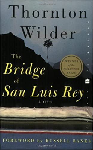 Book cover for The bridge of San Luis Rey.