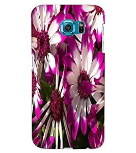 ColourCraft Beautiful Flowers Design Back Case Cover for SAMSUNG GALAXY S6 EDGE G925