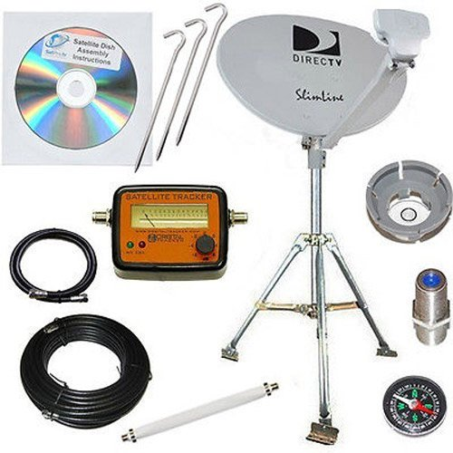 Best Review Of DirecTV SL3 HD Portable Satellite Dish Mobile tripod kit Rv Tailgating Camping