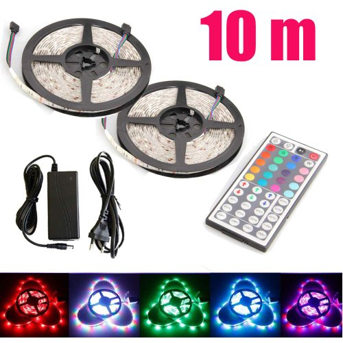 1-30 M Waterproof Rgb 3528 60Leds/M Flexible Led Strip Light + Remote Control + Dc 12V Pack Of 25M