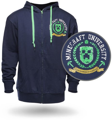 Minecraft University Hoodie - Officially Licenced (Extra Large)