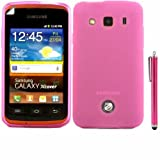 Gel Skin Cover Case And Capacitive Universal Stylus Pen And LCD Screen Guard For Samsung Galaxy Xcover S5690 / Pink