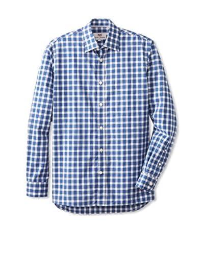 Hickey Freeman Men's Long Sleeve Gingham Woven Shirt