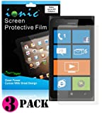 CrazyOnDigital Screen Protector Film Matte (Anti-Glare) for Nokia Lumia 900 (3-pack)