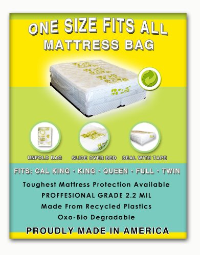 1 Size Fits All Mattresses Protection: Fits Cal King, King, Queen, Full And Twin. Toughest Bed Protective Covering Made In America. Eco Friendly. Made From Recycled Plastics back-192544