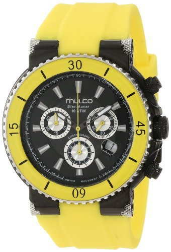 Mulco MW3-70603-099 47 Stainless Steel Case Yellow Plastic Band Men's & Women's Watch