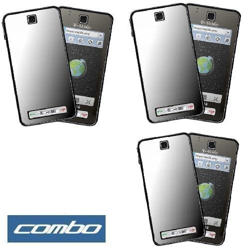 Durable Mirror Reusable LCD Screen Protector -3 Pack for T-Mobile Samsung Behold T919 Cell Phone