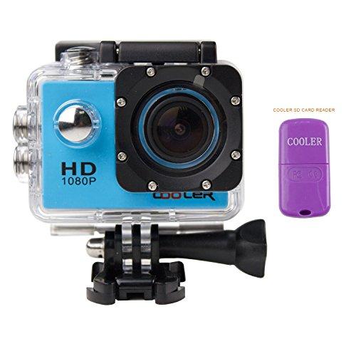 COOLER® Caméra Sport et Action étanche caméra Haute Définition Full HD 1080p avec Caméscope HD Vidéo avec étanche Casque 30M Extreme DV / DVR