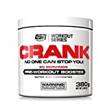 ESN Crank, Pre-Workout Booster, Blackberry, Workout Series, Dose mit Dosierlöffel, 1er Pack (1 x 380 g)