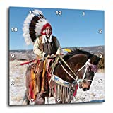 3dRose dpp_92657_3 Native American Indian, Alcalde, New Mexico US32 JMR0305 Julien Mcroberts Wall Clock, 15 by 15