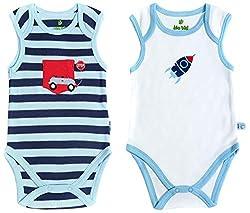 BIO KID Clothing Set for Kids (BB1I-T177-68_3-6 Months, 3-6 Months, White / Blue / Navy)