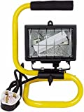 Status 120SHWLWMFX2 Portable Halogen Worklight with Metal Frame - Black and Yellow